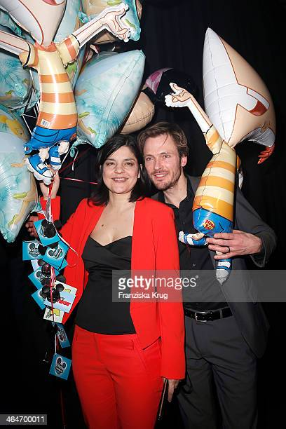 Jasmin Tabatabai and Andreas Pietschmann attend the Mira Award 2014 on January 23 2014 in Berlin Germany