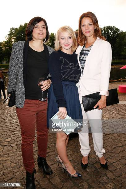 Jasmin Tabatabai Anna Maria Muehe and Jessica Schwarz attend the producer party 2014 of the Alliance German Producer Cinema And Television on June 25...