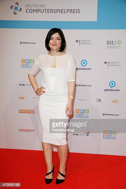 Jasmin Tabatabai attends the German Computer Games Award 2015 at eWerk on April 21 2015 in Berlin Germany