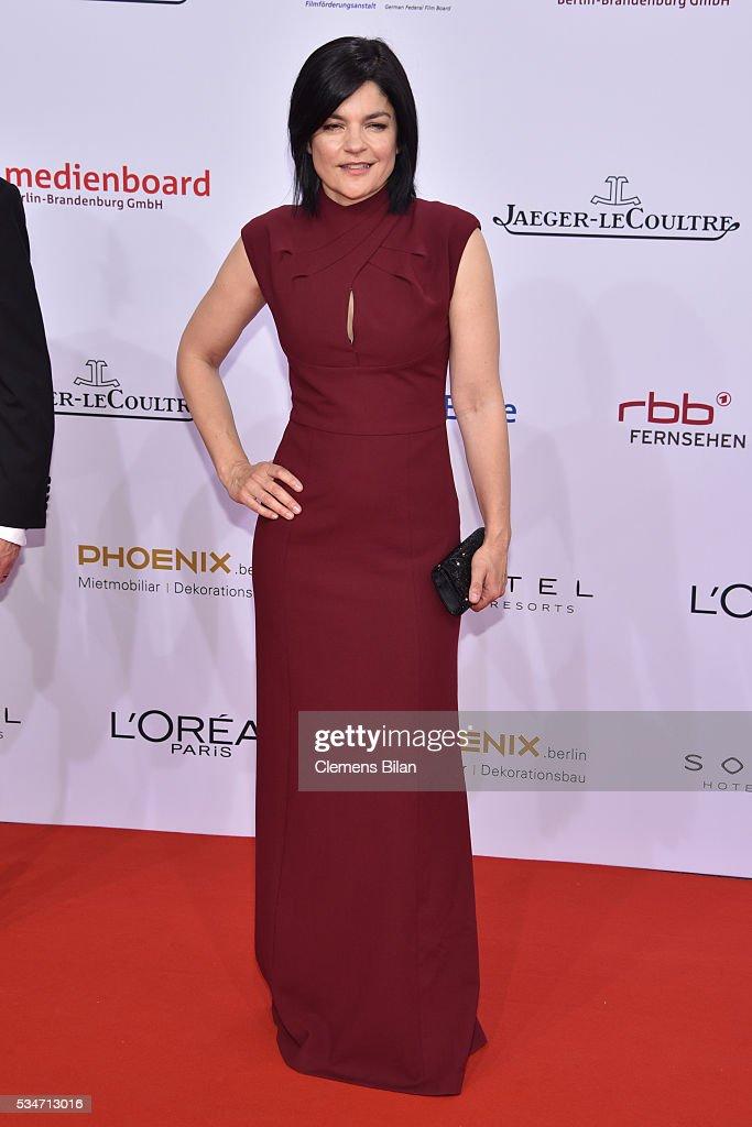 Jasmin Tabatabai attends the Lola - German Film Award (Deutscher Filmpreis) on May 27, 2016 in Berlin, Germany.