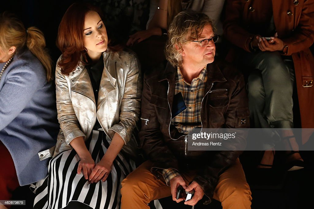 Jasmin Wagner and Martin Krug attend the Riani show during Mercedes-Benz Fashion Week Autumn/Winter 2014/15 at Brandenburg Gate on January 14, 2014 in Berlin, Germany.