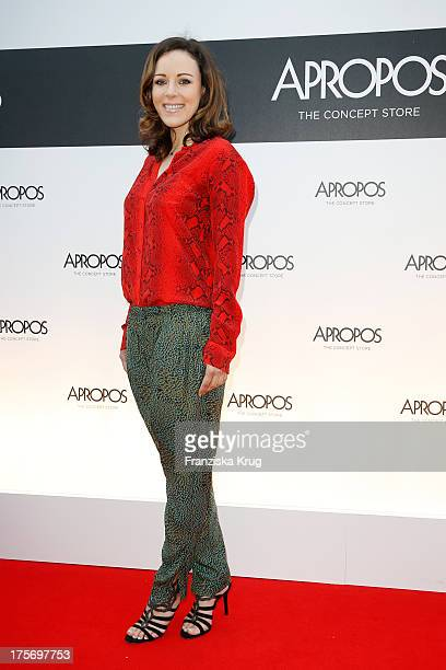 Jasmin Wagner attends the Concept Store Apropos Official Opening on August 06 2013 in Hamburg Germany