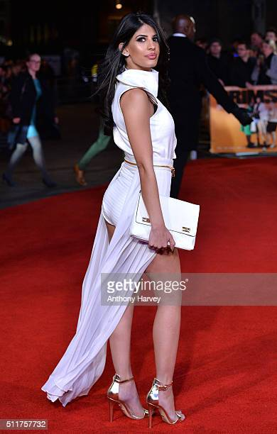 Jasmin Walia attands the World premiere of 'Grimsby' at Odeon Leicester Square on February 22 2016 in London England