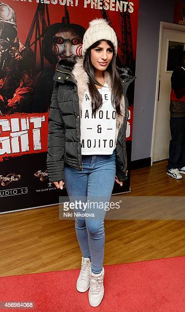 Jasmin Walia attends Friday Night VIP Event held in at Thorpe Park on October 9 2014 in Chertsey England