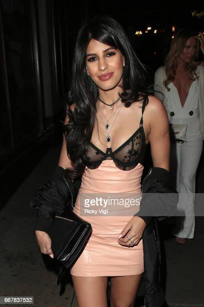 Jasmin Walia attends James Ingham's JogOn to Cancer part 5 at Kensington Roof Gardens on April 12 2017 in London England