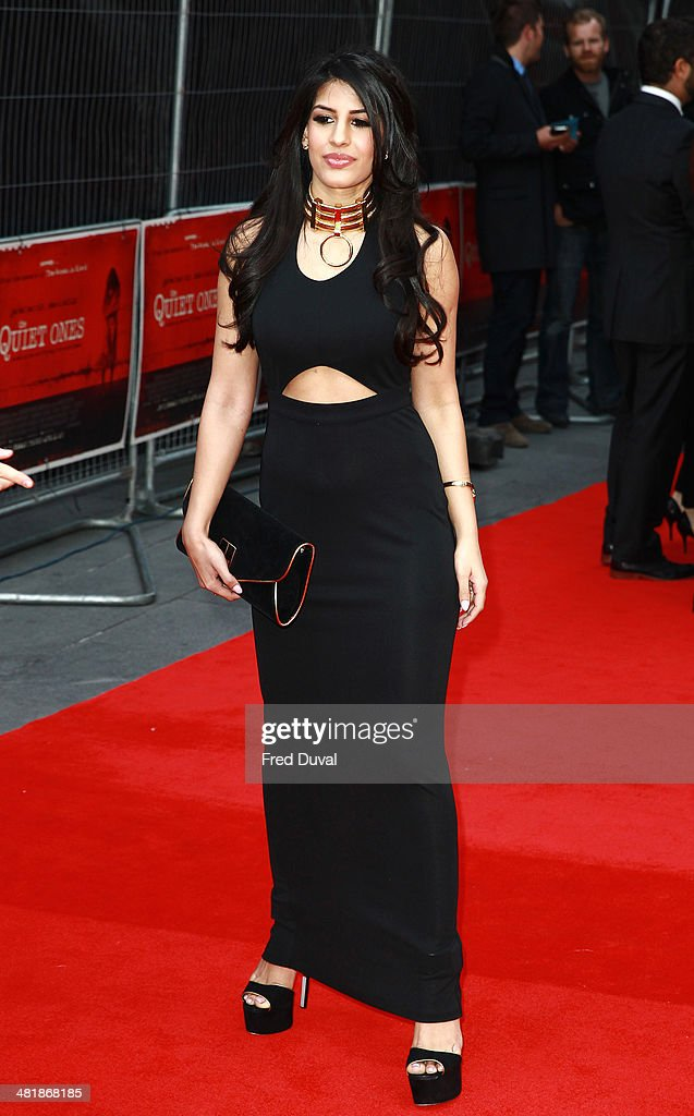 Jasmin Walia attends the UK film premiere of 'The Quiet Ones' at Odeon West End on April 1, 2014 in London, England.