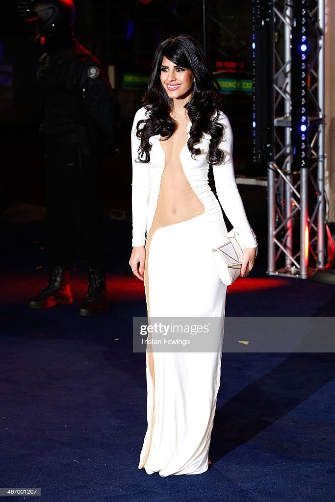 Jasmin Walia attends the World Premiere of 'Robocop' at BFI IMAX on February 5, 2014 in London, England.