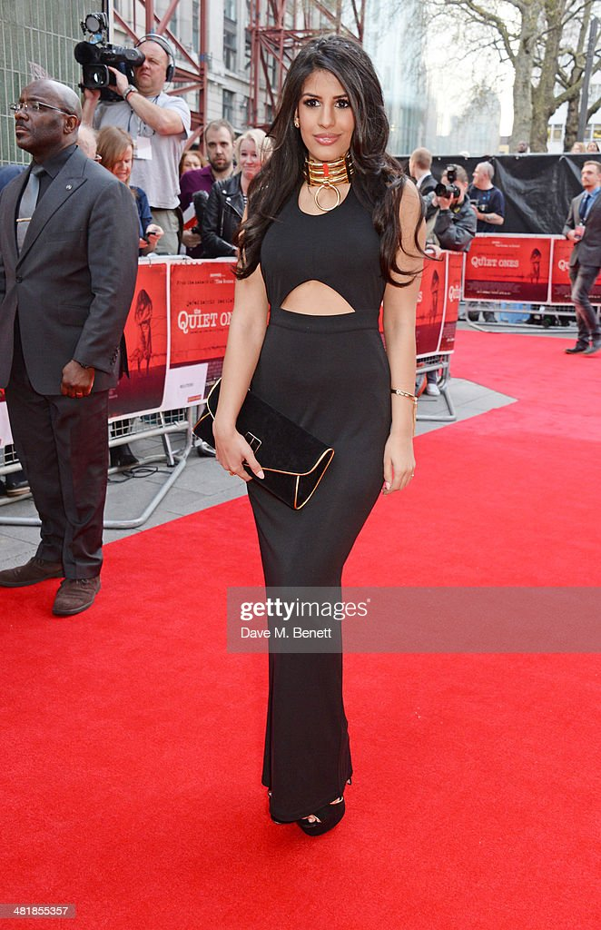 Jasmin Walia attends the World Premiere of 'The Quiet Ones' at the Odeon West End on April 1, 2014 in London, England.