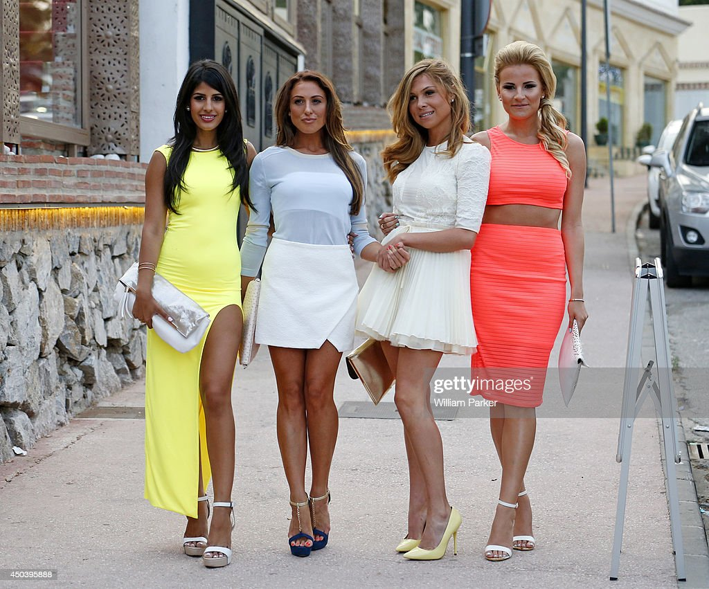 <a gi-track='captionPersonalityLinkClicked' href=/galleries/search?phrase=Jasmin+Walia&family=editorial&specificpeople=10534887 ng-click='$event.stopPropagation()'>Jasmin Walia</a>, Grace Andrews, Fran Parman and <a gi-track='captionPersonalityLinkClicked' href=/galleries/search?phrase=Georgia+Kousoulou&family=editorial&specificpeople=12683191 ng-click='$event.stopPropagation()'>Georgia Kousoulou</a> spotted arrivng for TOWIE filming at Mosaik on June 10, 2014 in Marbella, Spain.