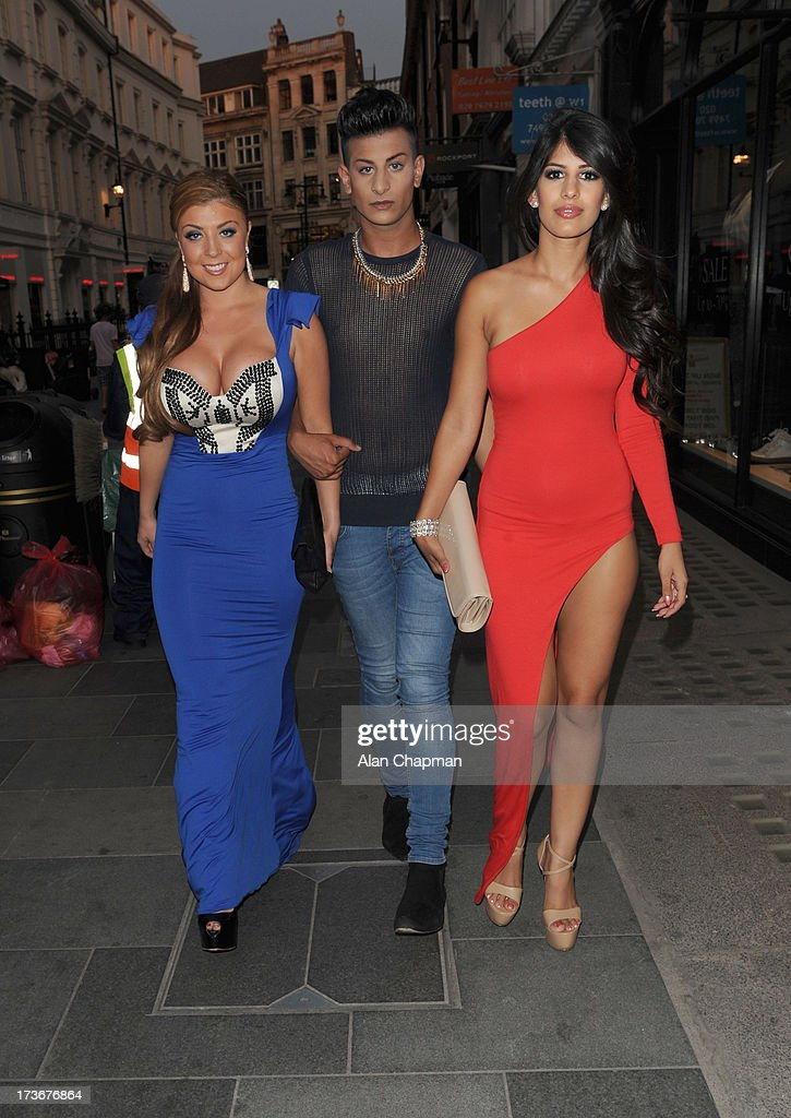 Jasmin Walia (right) sighting at the BIG party Amika South Molton Street on July 16, 2013 in London, England.