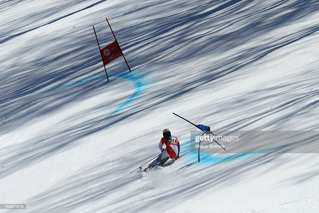 Jasmina Suter of Switerland competes in the Ladies' Giant Slalom at Rosa Khutor Alpine Center on March 14, 2013 in Sochi, Russia.