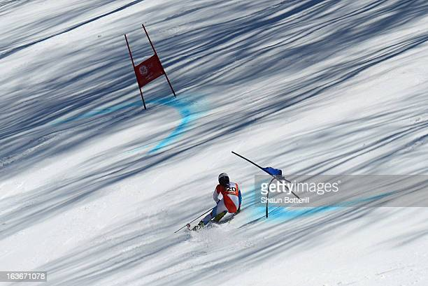 Jasmina Suter of Switerland competes in the Ladies' Giant Slalom at Rosa Khutor Alpine Center on March 14 2013 in Sochi Russia