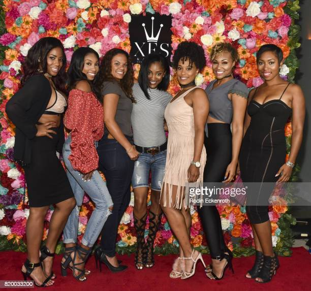 Jasmine Alyssa Kamiyla Bell Bri Hatchet Kaleahj and Niki McElroy attend XES Sip Shop Slay at Therapy LA on July 20 2017 in Los Angeles California