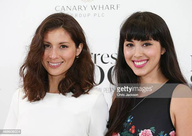 Jasmine and Melissa Hemsley attend as the London Evening Standard Progress 1000 list is revealed at Canary Wharf Crossrail on September 16 2015 in...
