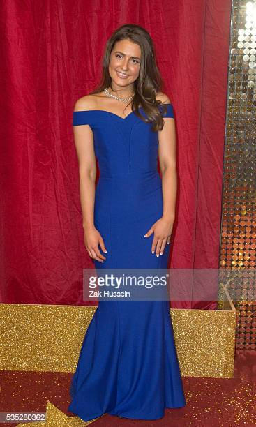 Jasmine Armfield arrives for British Soap Awards 2016 at Hackney Empire on May 28 2016 in London England