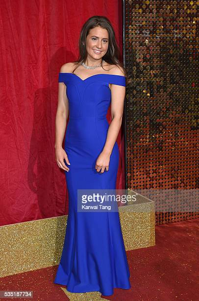 Jasmine Armfield arrives for the British Soap Awards 2016 at the Hackney Town Hall Assembly Rooms on May 28 2016 in London England