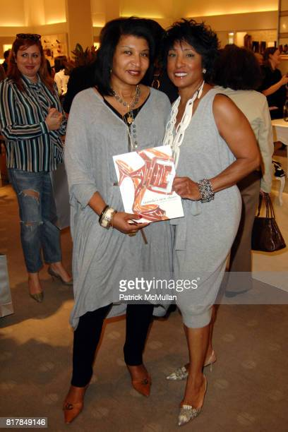 Jasmine Bowers and Carolyn Folks attend Manolo Blahnik In Person at Neiman Marcus at Neiman Marcus on October 7 2010 in Beverly Hills California