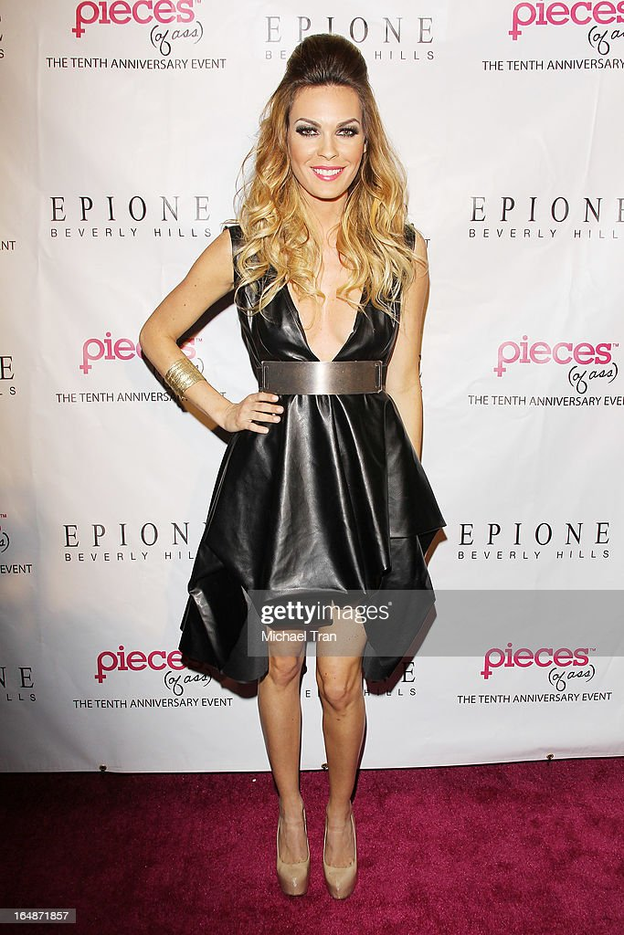 Jasmine Dustin arrives at 'Pieces(Of Ass)' opening night Los Angeles performance held at The Fonda Theatre on March 28, 2013 in Los Angeles, California.