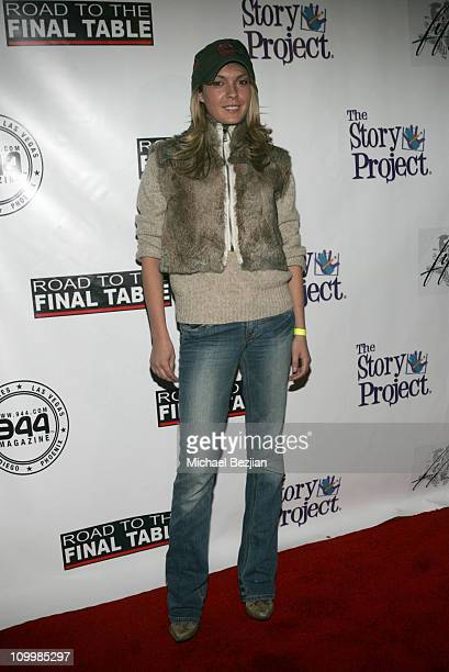 Jasmine Dustin during Poker for Katrina Relief December 1 2005 at The Day After in Los Angeles California United States