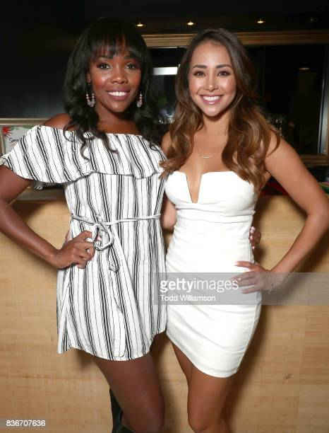 Jasmine Goode and Danielle Lombard attend a 'Bachelor In Paradise' Viewing Party on August 21 2017 in Los Angeles California