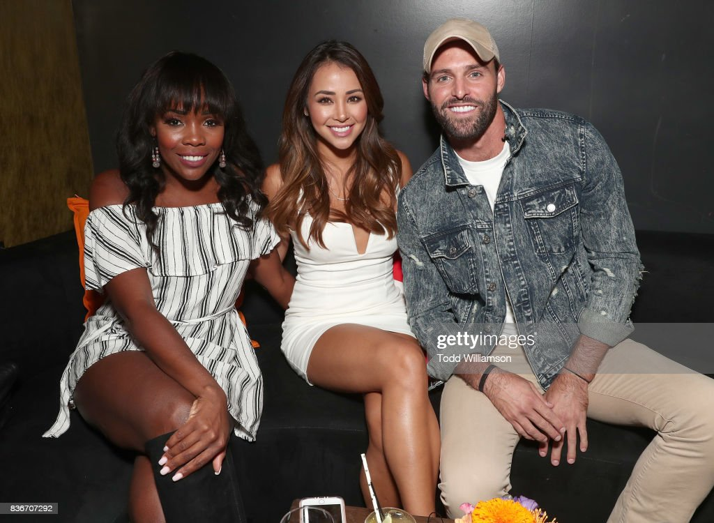 Jasmine Goode, Danielle Lombard and Robby Hayes host a 'Bachelor In Paradise' Viewing Party on August 21, 2017 in Los Angeles, California.