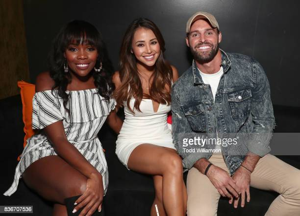 Jasmine Goode Danielle Lombard and Robby Hayes host a 'Bachelor In Paradise' Viewing Party on August 21 2017 in Los Angeles California