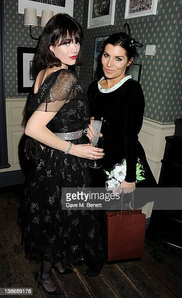 Jasmine Guinness and Grace Woodward attend The Weinstein Company Dinner Hosted By Grey Goose in celebration of BAFTA at Dean Street Townhouse on...