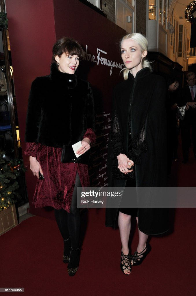 Jasmine Guinness and Portia Freeman attend a dinner at Burlington Arcade after the flagship store launch of Salvatore Ferragamo's Old Bond Street Boutique at 24 Old Bond Street on December 5, 2012 in London, England.