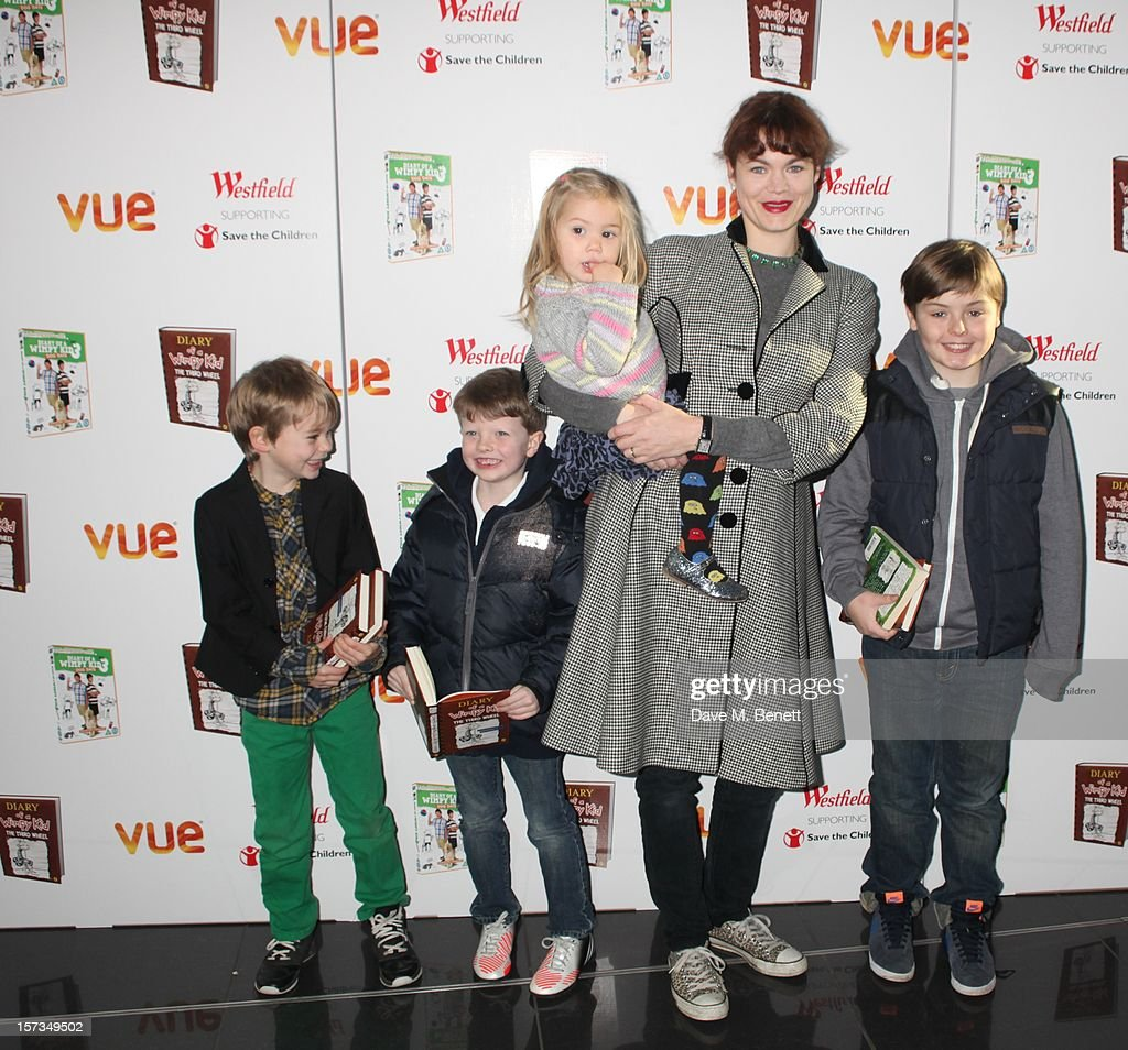 Jasmine Guinness attends 'Diary of a Wimpy Kid' UK dvd Premiere at Vue Westfield on December 02, 2012 in London, England.