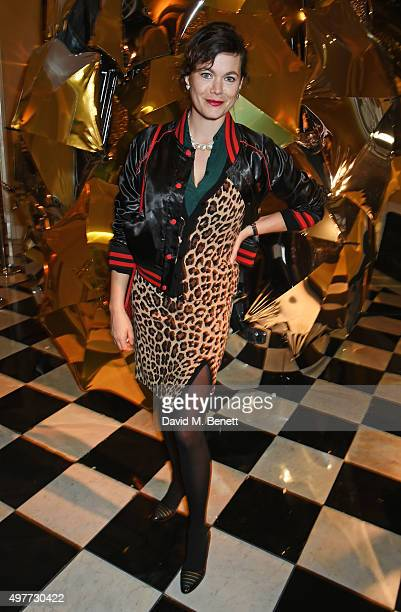 Jasmine Guinness attends the Claridge's Christmas Tree Party 2015 designed by Christopher Bailey for Burberry at Claridge's Hotel on November 18 2015...