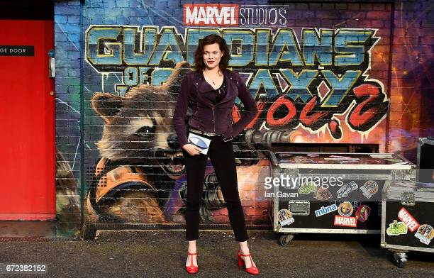Jasmine Guinness attends the European launch event of Marvel Studios' 'Guardians of the Galaxy Vol 2' at the Eventim Apollo on April 24 2017 in...