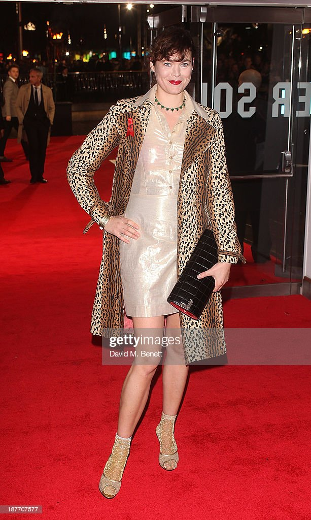 Jasmine Guinness attends the UK Premiere of 'The Hunger Games: Catching Fire' at Odeon Leicester Square on November 11, 2013 in London, England.