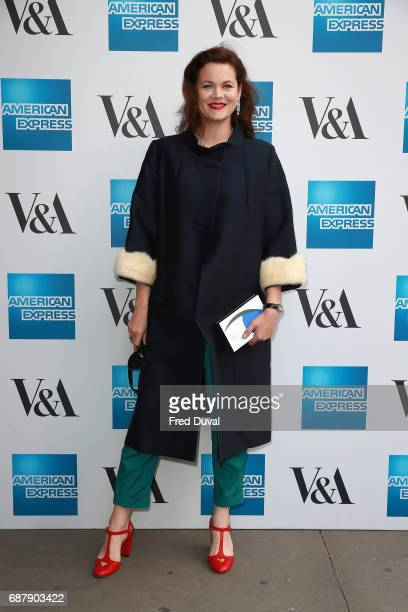 Jasmine Guinness attends The VA Opens Spring 2017 Fashion Exhibition Balenciaga Shaping Fashion at The VA on May 24 2017 in London England