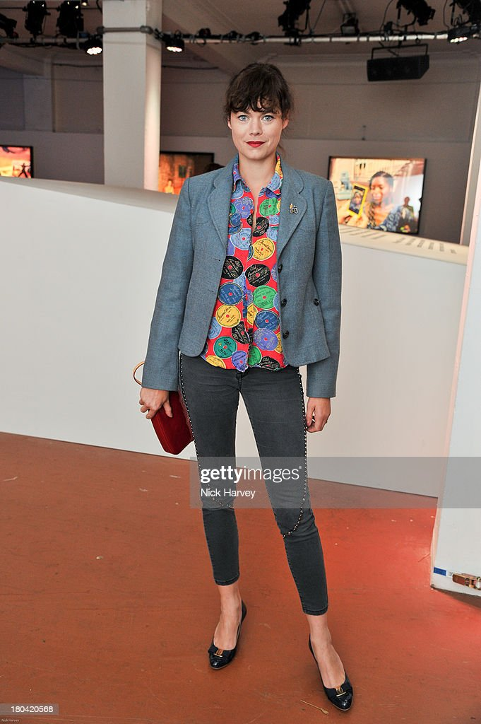Jasmine Guinness attends the Weber X Bailey by Nokia Lumia 1200 private view at Nicholls Clarke Building on September 12 2013 in London England