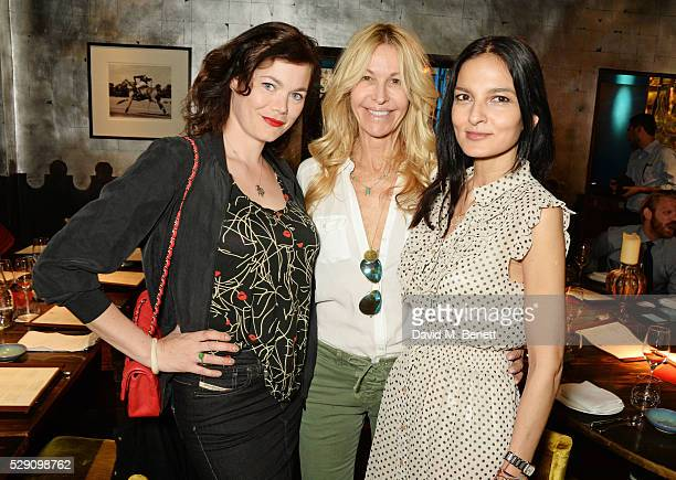 Jasmine Guinness Melissa Odabash and Yasmin Mills attend the launch of Coya London's all new Sunday brunch on May 8 2016 in London England