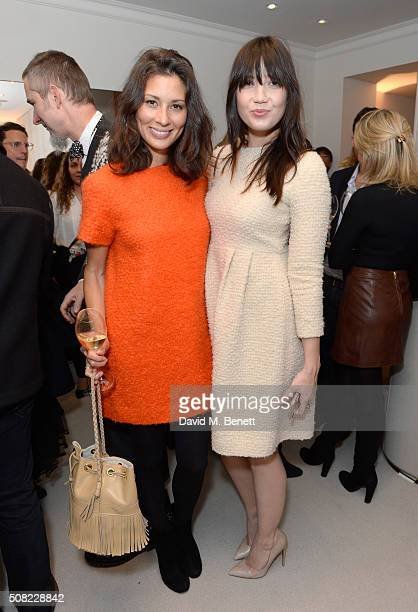Jasmine Hemsley and Daisy Lowe attend the opening of the new JM Davidson store in Mount Street Mayfair on February 3 2016 in London England