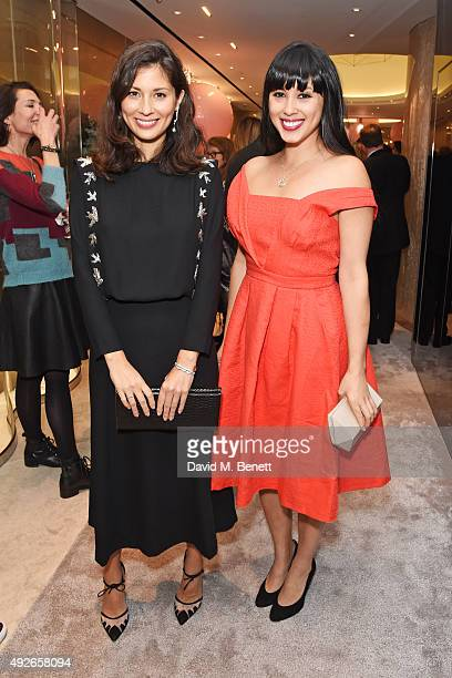 Jasmine Hemsley and Melissa Hemsley attend as Boodles celebrates the opening of their new Bond Street flagship with special guest Emma Thompson and...