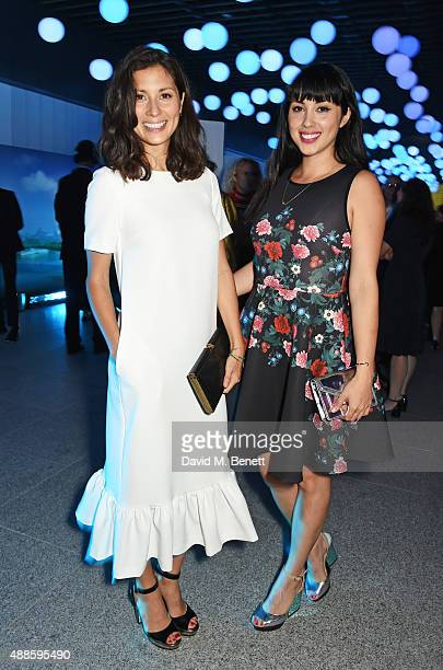 Jasmine Hemsley and Melissa Hemsley attend as the London Evening Standard Progress 1000 list is revealed at Canary Wharf Crossrail on September 16...