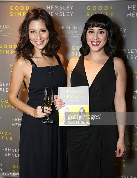 Jasmine Hemsley and Melissa Hemsley attend the launch of their book 'Good Simple' at Mondrian London on February 22 2016 in London England