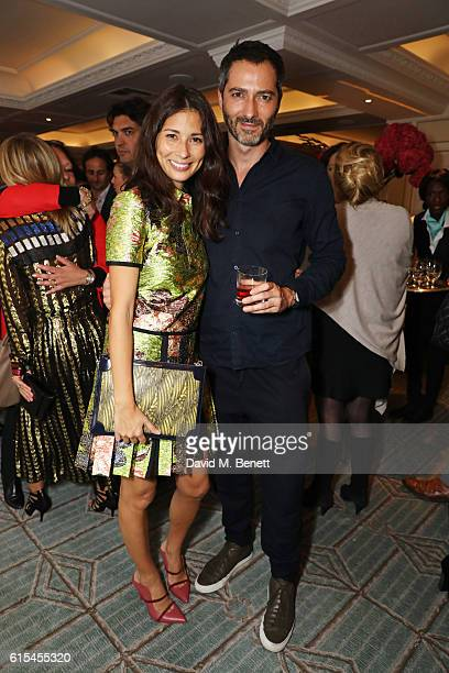 Jasmine Hemsley and Nick Hopper attend the launch of 'Fortnum Mason The Cook Book' by Tom Parker Bowles at Fortnum Mason on October 18 2016 in London...