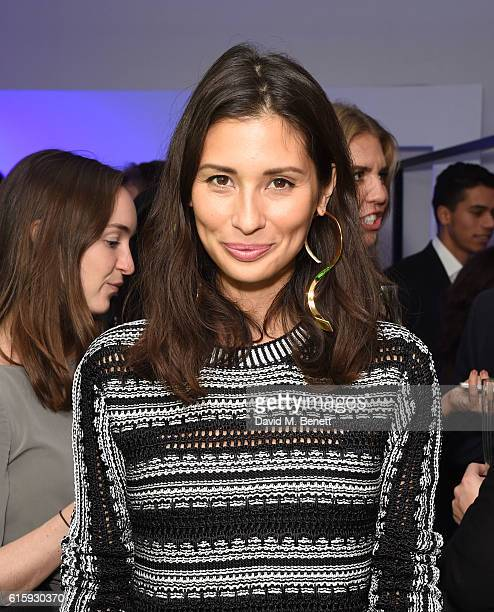 Jasmine Hemsley attends an exclusive preview of the Faberge 'Say Yes In Colour' collection at Rook Raven Gallery on October 20 2016 in London England
