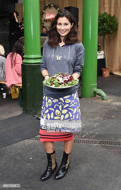 Jasmine Hemsley attends the Fare Healthy festival of food fitness and wellbeing at Borough Market on September 27 2015 in London England