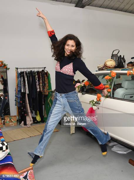 Jasmine Hemsley attends the #SheInspiresMe Car Boot Sale for Women for Women International at Brewer Street Car Park on May 6 2017 in London England