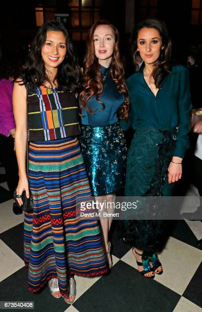 Jasmine Hemsley Olivia Grant and Rosanna Falconer attend the launch of The Ned London on April 26 2017 in London England