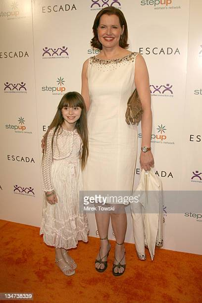 Jasmine Jessica Anthony and Geena Davis during Escada presents the Step Up Inspiration Awards at The Beverly Hilton Hotel in Beverly Hills CA United...