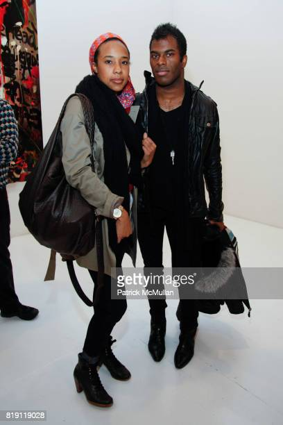 Jasmine Johnson and Madison Moore attend Rosson Crow BOWERY BOYS Opening at Deitch on March 4 2010 in New York City