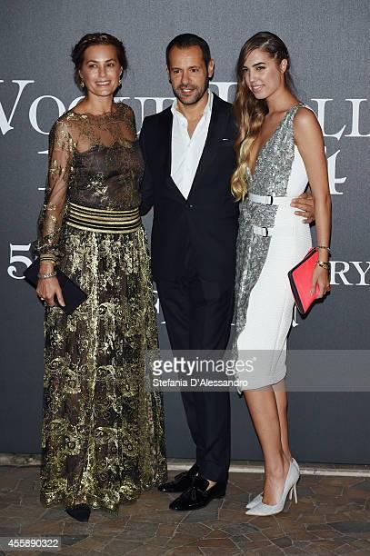 Jasmine Le Bon Massimiliano Giornetti and Amber le Bon attend Vogue Italia 50th Anniversary Event on September 21 2014 in Milan Italy
