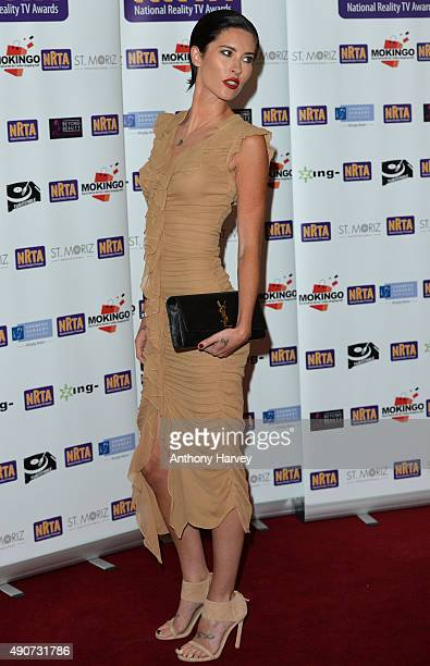Jasmine Lennard attends the National Reality TV Awards at Porchester Hall on September 30 2015 in London England