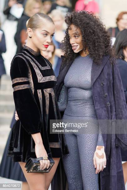 Jasmine Sanders and Winnie Harlow attend the Christian Dior show as part of the Paris Fashion Week Womenswear Spring/Summer 2018 on September 26 2017...