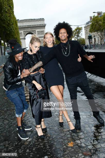 Jasmine Sanders Arizona Muse Laurent Bourgeois and Larry Bourgeois attend 'Le Defile L'Oreal Paris show' as part of the Paris Fashion Week Womenswear...